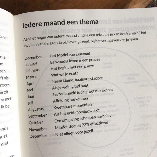 eenvoudig leven agenda review - themas